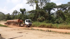 Logging truck in Messok Dja.