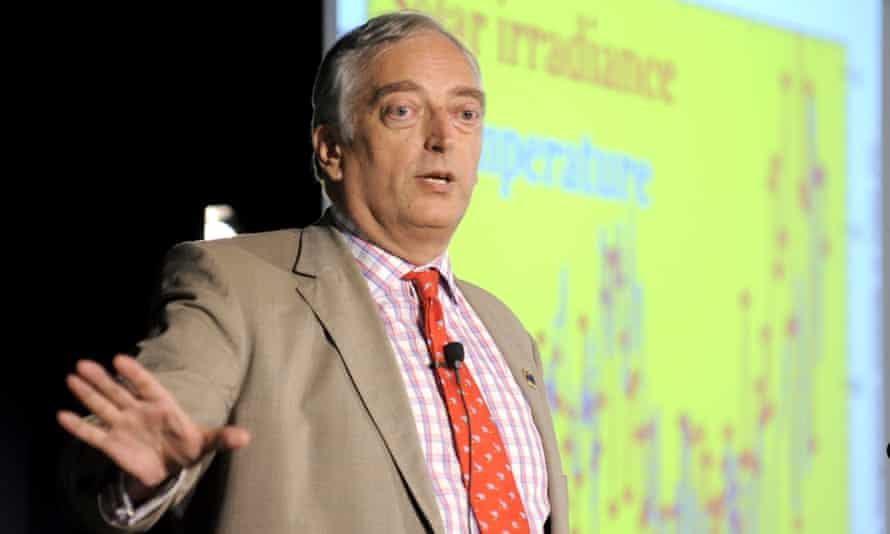 The former Ukip candidate Christopher Monckton is speaking at the AfD climate denial event.