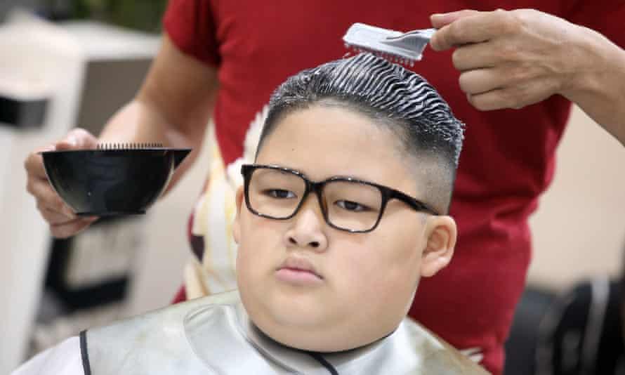 Gia Huy, nine, gets a Kim trim