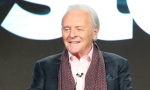Anthony Hopkins speaks onstage during The Dresser panel.