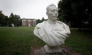 A statue of Kaiser Wilhelm II in the park around the Huis Doorn estate.