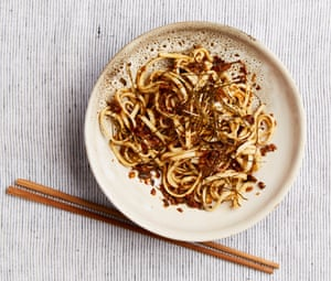 Meera Sodha's mushroom XO sauce with noodles.