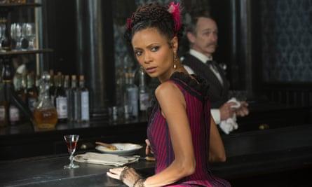 Thandie Newton as Maeve Millay in Westworld.