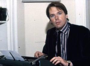 Mark Colvin as a young reporter