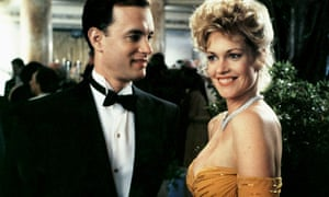Tom Hanks as Sherman McCoy and Melanie Griffith as Maria Ruskin in the film of The Bonfire of the Vanities.