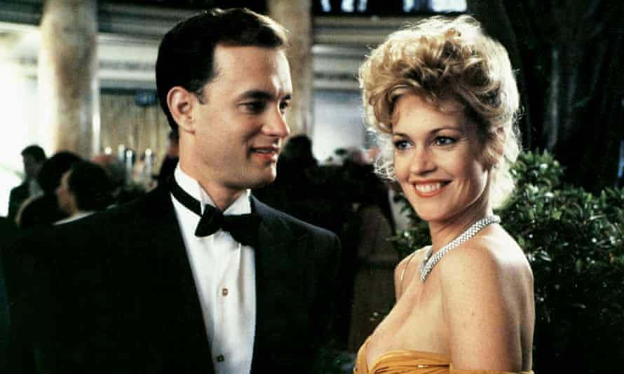 Tom Hanks as Sherman McCoy and Melanie Griffith as Maria in The Bonfire of the Vanities (1990).