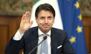 Italian prime minister, Giuseppe Conte