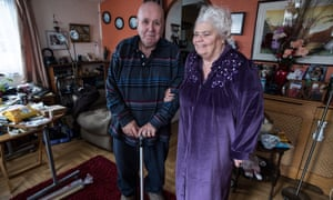 Jaywick residents Peter White, 81, and his wife Jean White.