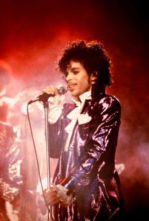 Prince on the Purple Rain tour.