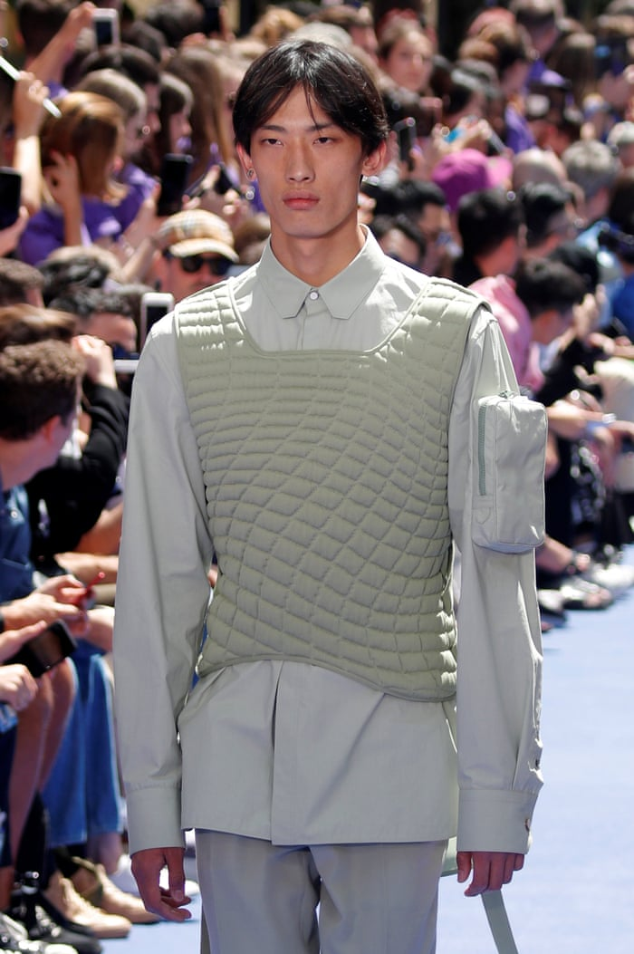 f06b4284eb27 V is for Virgil  Abloh makes debut for Louis Vuitton in Paris ...