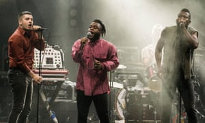 Young Fathers performing in Glasgow in 2015