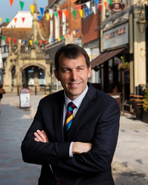 Glen in the Market Square: 'What we need to do is get the message out there that Salisbury's a beautiful place ...'