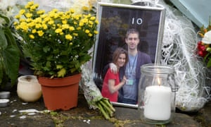 Flowers and tributes including a photograph of Labour MP Jo Cox outside 10 Downing Street are laid in remembrance
