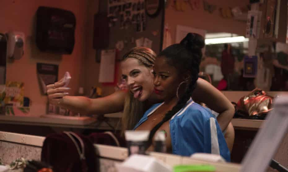 Riley Keough, left, and Taylour Paige in Zola.