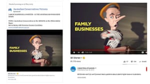 Comparison of a Facebook ad run on the Australian Conservatives Victoria page, and the Liberal party advertisement on YouTube