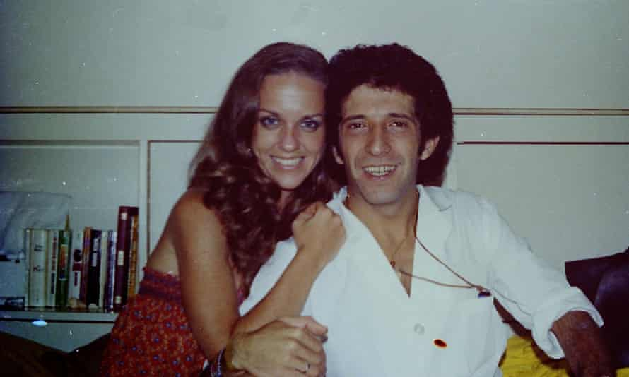 Brooks and Maurizio in 1977, on the cruise ship where they met