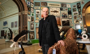 Jock McFadyen photographed this month in the main room – Central Hall – of his Summer Exhibition at the Royal Academy, London.