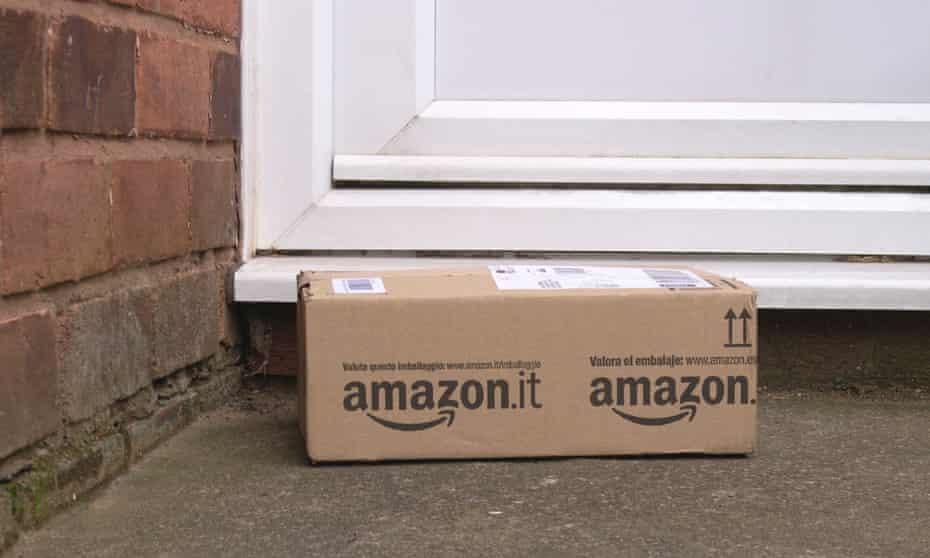 Amazon parcel on doorstep