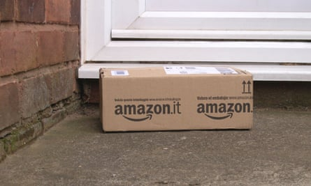 Amazon Home Parcel Delivery on a Doorstep