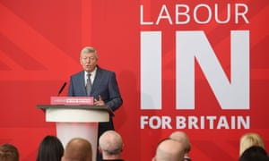 Alan Johnson launches the Labour In for Britain campaign.