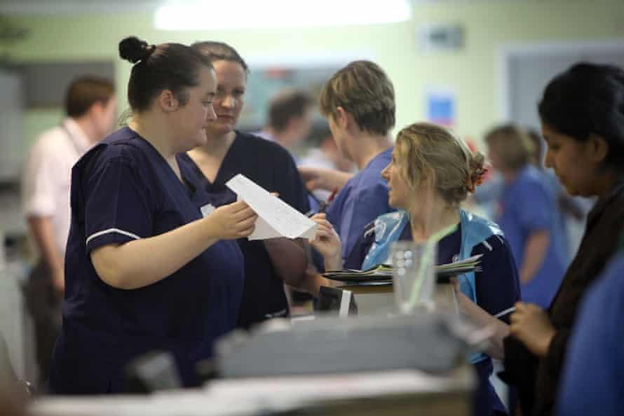 Nurses in an A&E department