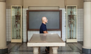 Sergio Canavero at the University of Turin's anatomy museum.