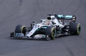 Hamilton, chasing Verstappen.