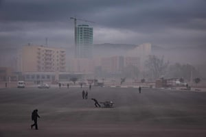 A general view of daily life is photographed from a public square in Rason at the northeastern tip of North Korea, where the isolated, nuclear-armed country meets its giant neighbours China and Russia.