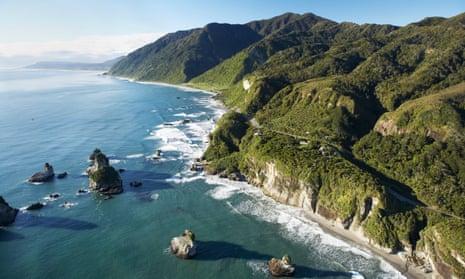 Twelve Mile Bluff and Motukiekie Rocks north of Greymouth on New Zealand's South Island