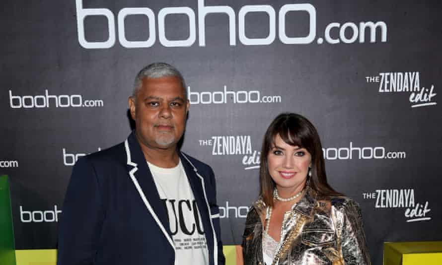 Boohoo co-founders Mahmud Kamani and Carol Kane in 2018.