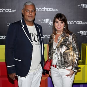 Mahmud Kamani and Carol Kane