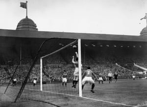 Chelsea beat Millwall 2-0 at Wembley to win the Souther Cup final in 1945.