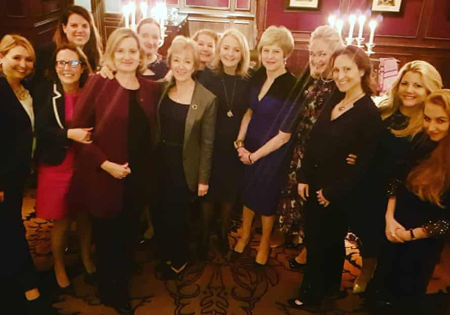Lubov Chernukhin (fourth from right) at a Conservative party dinner at the Goring Hotel in London in May 2019.