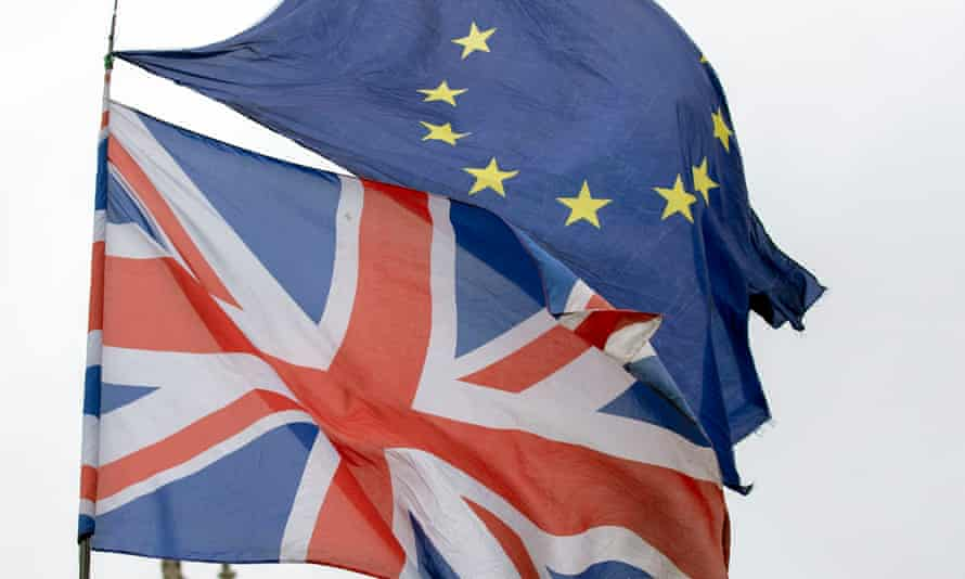 A UK and EU flag