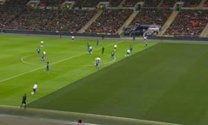 Harry Kane was onside by a whisker before winning and converting the penalty that ensued.