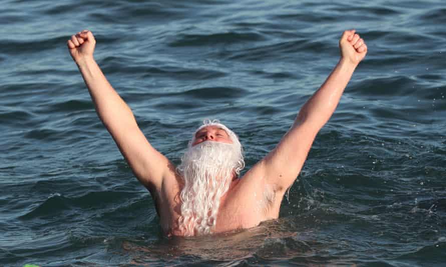 Forty Foot, Sandycove, Dublin, hosts a Christmas Day swim last year.