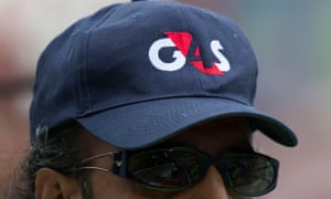 A G4S government contractor security guard at an event.