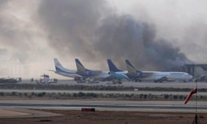 The Taliban attack on Jinnah International airport in which more than 30 people died