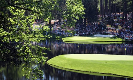 The 8th and 9th greens at the Masters 2019