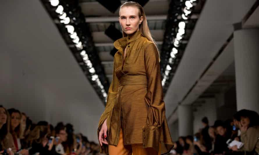 Kelly Knox modelling Teatum Jones AW17