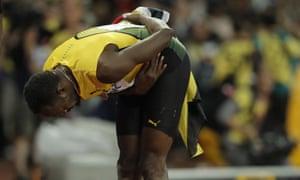 Usain Bolt takes a bow.
