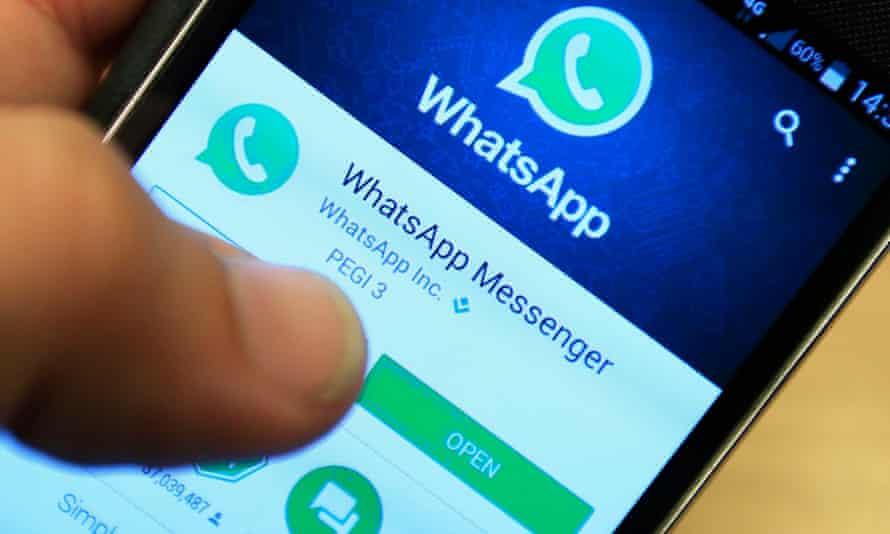 WhatsApp on a mobile