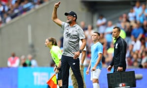 Klopp was encouraged by his team's performance during the second half of the Community Shield at Wembley.