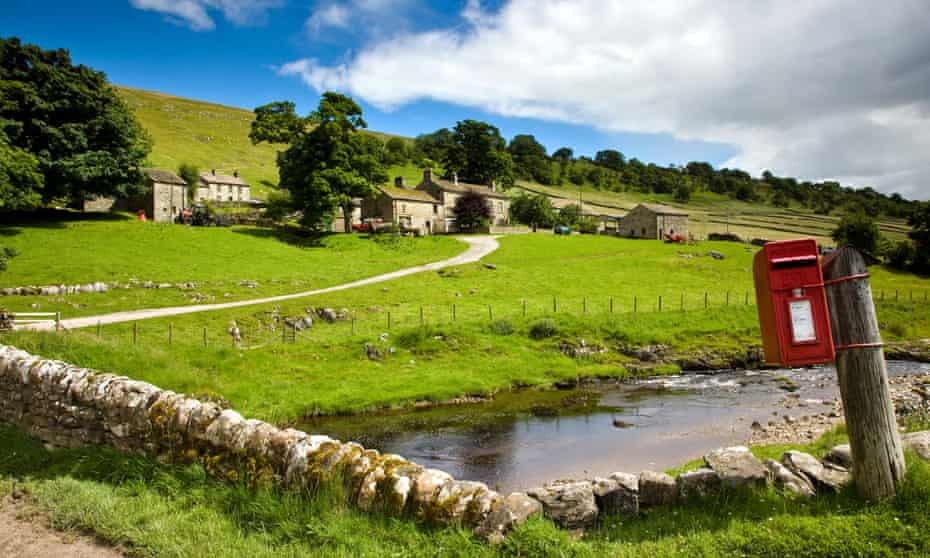 Yockenthwaite village and Yorkshire's River Wharfe.