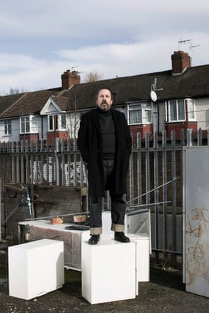 9th FEB- 2016: LONDON: Andrew Weatherall. Key figure in UK dance culture from the 80's. (Photography by Graeme Robertson)