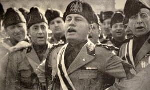 Benito Mussolini in Rome in 1927.