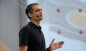 Sameer Samat of Google speaks onstage during the annual Google I/O developers conference in Mountain View, California.