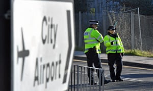 London City airport is closed and Metropolitan police have set up a 214-metre exclusion zone after the device was found at George V dock on Sunday.