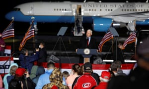 Mike Pence speaks in Kinston, North Carolina on Sunday.