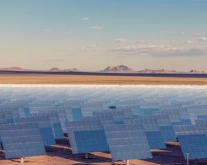 The Crescent Dunes Solar Energy Project, 190 miles outside Las Vegas.